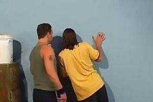 Аврора Сноу и два парня хорошо проводят время в офисе их учителя